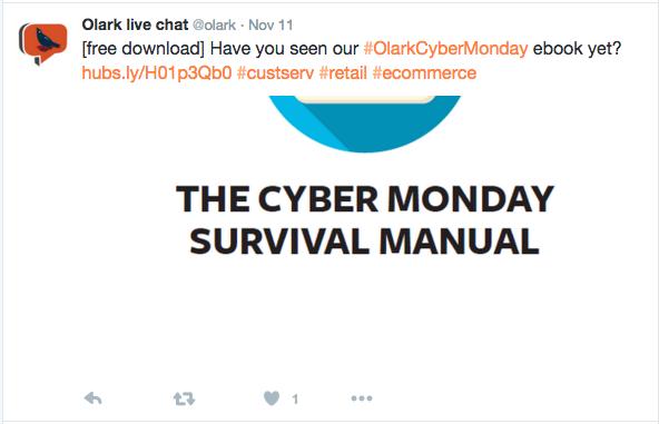 cybermonday survival guide olark