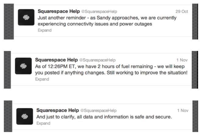square space social media updates