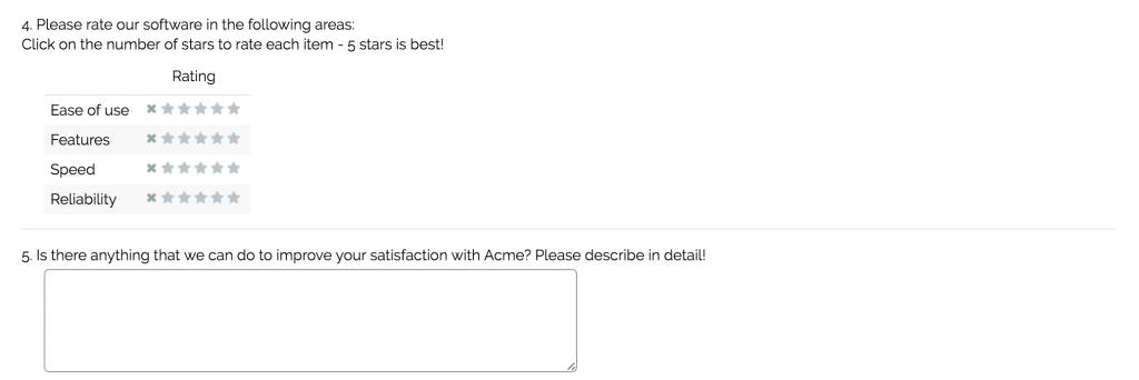 Sample Questions: Customer Satisfaction Surveys