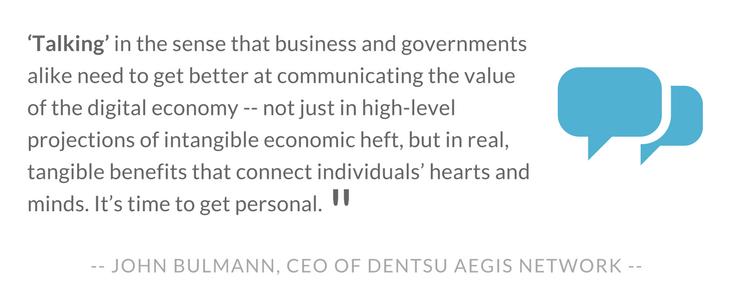 John Bulmann, CEO of Dentsu Aegis Network