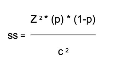 sample size calculator formula