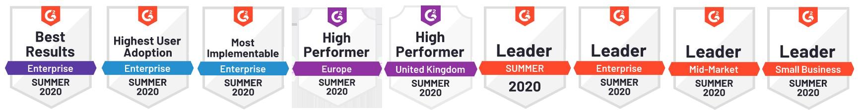 SurveyGizmo Summer G2 Awards
